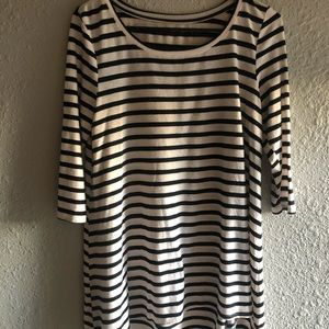 Dresses & Skirts - Long Sleeved Black & White striped Dress